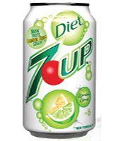 DIET SEVEN UP CANS